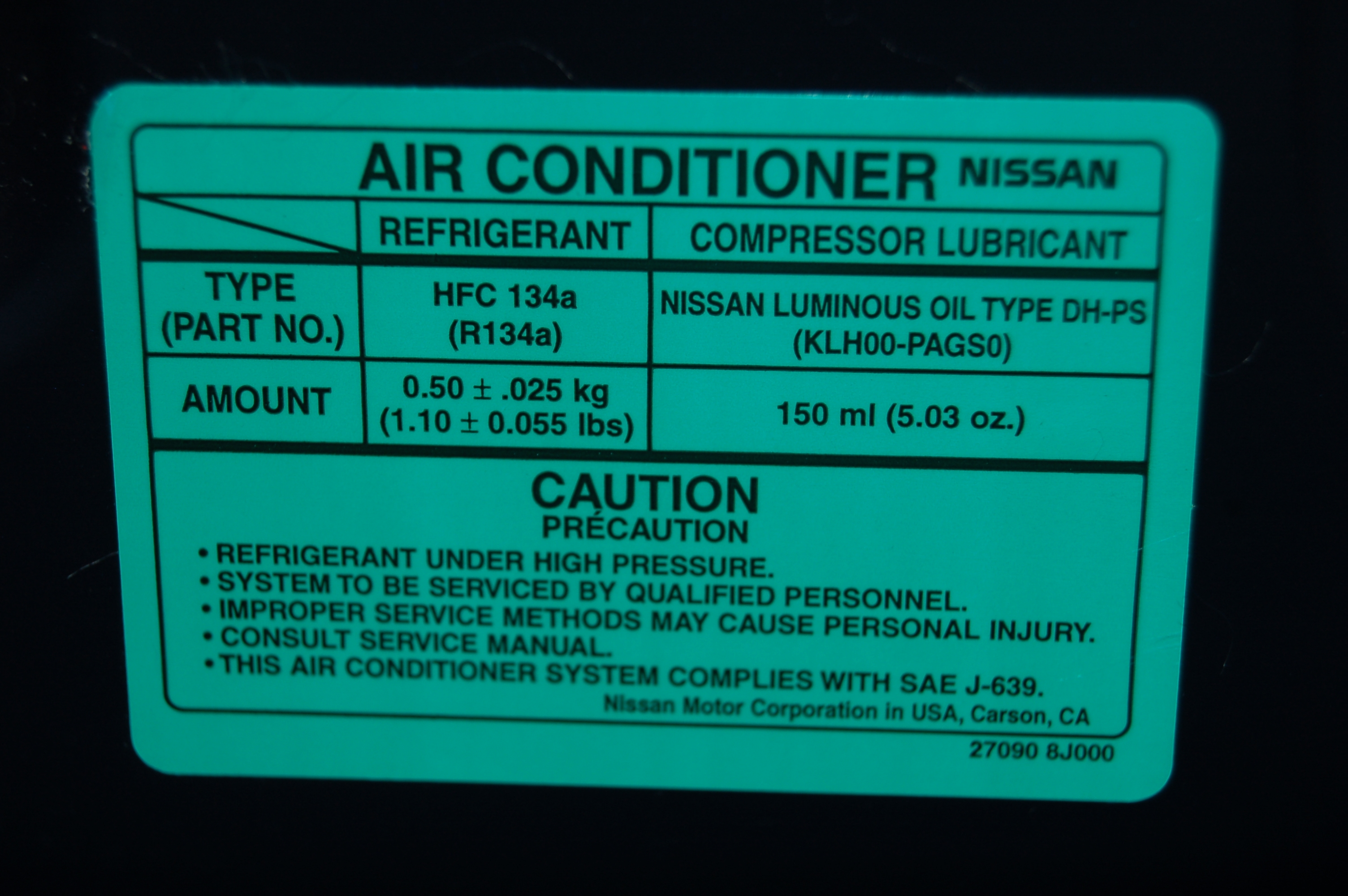 Heed the label! Mobile Air Conditioning Society (MACS) Worldwide #00AD9D