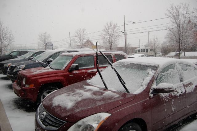 Wet,slushy snowfall in Montgomery County,PA