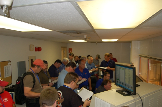 Training in the T/CCI climatic wind tunnel control room