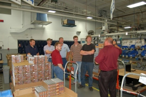 Three groups of attendees were taken on a tour of Bergstrom's Rockford facility.