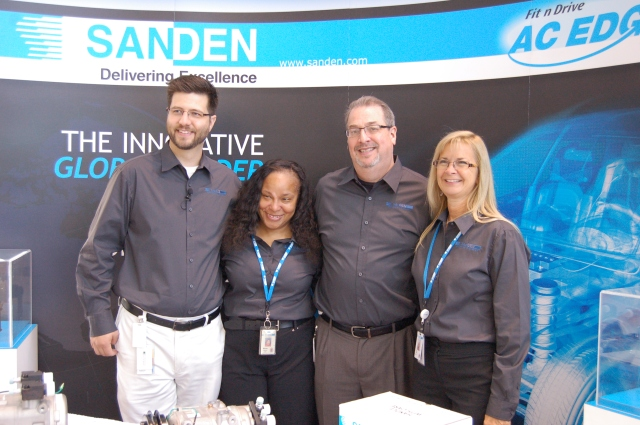 The Sanden team were the perfect hosts