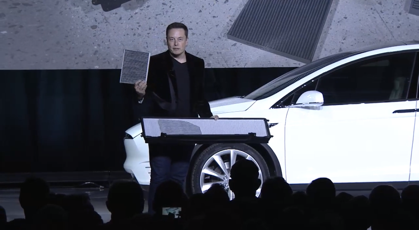 Tesla launches model x with an industry first hvac feature for Tesla model x cabin air filter