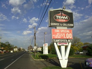 Team Toyota is one of the most well-known dealers on Route 1 in Langhorne, PA.