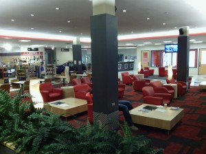 Most service shops provide a waiting area for their customers. How many offer an environment like this?
