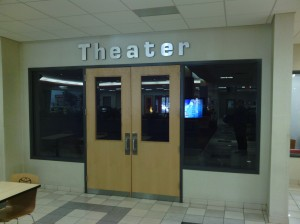 Although it only seats twelve, it's quiet and dimly lit; perfect for watching movies while waiting for your car!
