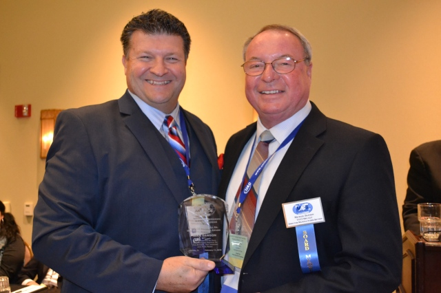 L to R Andy Fiffick MACS Chairman presents Michael Dawson with Charles L. Braswell award