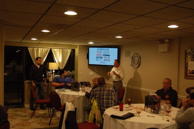The evening kicked off with presentations by Ken Seal (AASP) and Dan Warner (New Auto Solutions).
