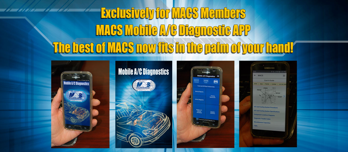 MACS mobile A/C diagnostics app is now available for download for